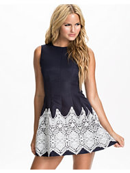 Ax Paris Crochet Contrast Skater Dress