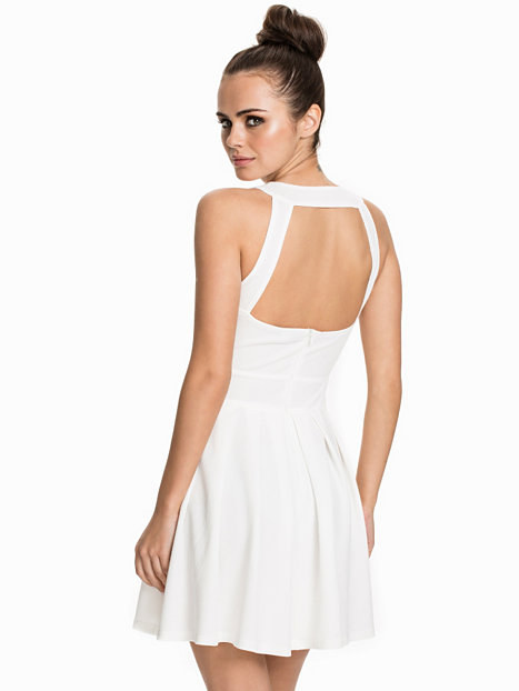 Plunged Neck Amp Pleated Dress Ax Paris Cream Party