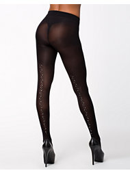 Pretty Polly Fashion Embellished Back Seam Tights