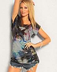 Club L - Mystery Sequin Tee