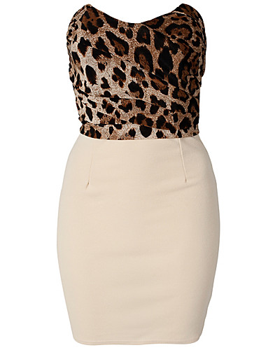 PARTY DRESSES - CLUB L / LEOPARD BANDEAU DRESS - NELLY.COM