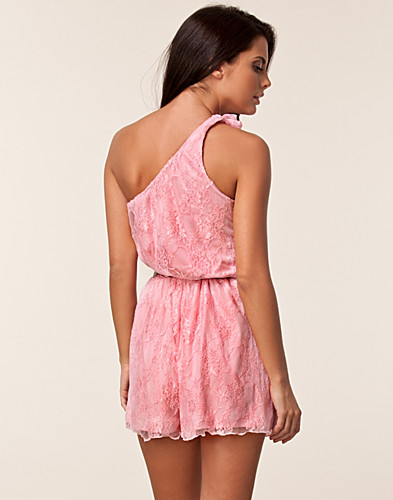 JUMPSUIT - CLUB L / ONE SHOULDER BOW LACE PLAYSUIT - NELLY.COM