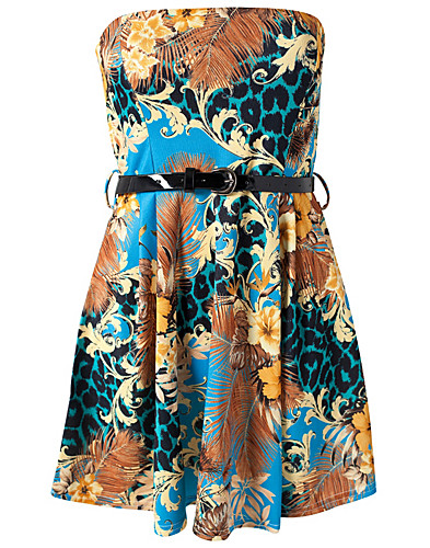 FESTKLÄNNINGAR - CLUB L / LIZA BANDEAU PRINTED DRESS - NELLY.COM