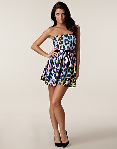 PARTY DRESSES - CLUB L / LIZA BANDEAU PRINTED DRESS - NELLY.COM