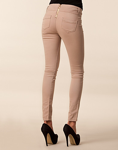 JEANS - CLUB L / SLIM ZIP BACK JEANS - NELLY.COM
