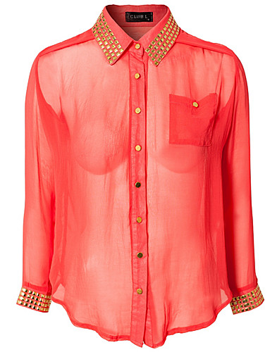 BLUSAR & SKJORTOR - CLUB L / AMELIA DETAIL SHIRT - NELLY.COM