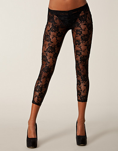 LEGGINGS - CLUB L / LACE PU BACK LEGGINGS - NELLY.COM