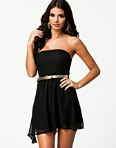 LIZA BANDEAU CHIFFON DRESS