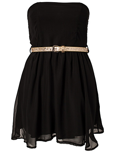 PARTY DRESSES - CLUB L / LIZA BANDEAU CHIFFON DRESS - NELLY.COM