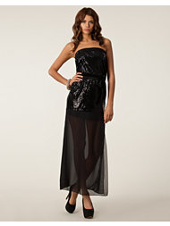 Club L Sequin Mesh Maxi Dress