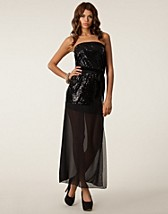 SEQUIN MESH MAXI DRESS