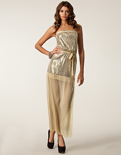 FESTKLÄNNINGAR - CLUB L / SEQUIN MESH MAXI DRESS - NELLY.COM