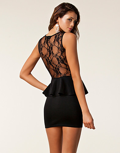 FESTKLÄNNINGAR - CLUB L / CANDY LACE PEPLUM DRESS - NELLY.COM