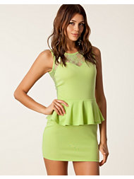 Club L Candy Lace Peplum Dress