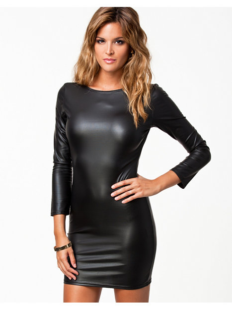 ... Womens-fashion Clothing Party dresses Club l Wet look low back dress