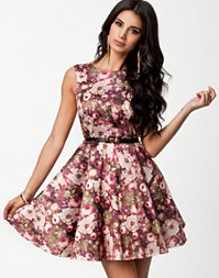 Flower Bow Belt Prom Dress