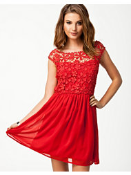 Club L Crochet Babydoll Dress