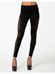 Club L Lace Pannel Leggings
