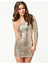 Club L One Shoulder Sequin Dress
