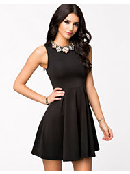 Club L Necklace Skater Dress