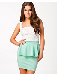 Club L Lace Detail Peplum Dress