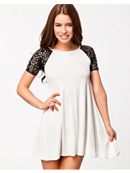 Club L Laser Cut Swing Dress