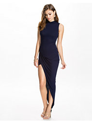 Club L High Neck Side Rouched Dress