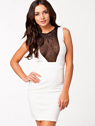 Club L V Diamond Detail Jesrsey Dress