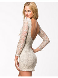 Club L Crochet Sequin Bodycon Dress