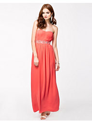 Te Amo Bandey Tuch Waist Sequin Maxi Dress