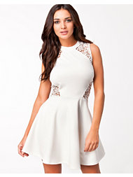 Club L Crochet Pannel Skater Dress