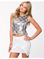 Club L Silver Sequin Box Top