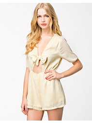 Club L TIe Knot Chiffon Playsuit
