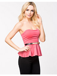 Club L Bandeau Peplum Top