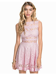 Club L Lace Panel Insert Dress