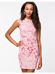 Club L Lace Printed Mini Dress