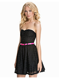 Club L Bandeau Crochet Lace Dress