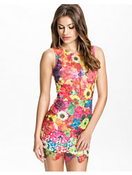 Club L Multi Floral Crochet Dress