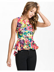 Club L High Low Peplum Top