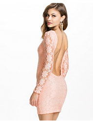 Club L Floral Lace Detail Lowback Bodycon Dress