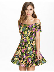 Club L Off Shoulder Skater Dress