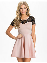 Club L Crochet Sweetheart Skater Dress