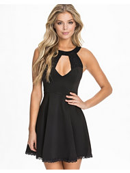 Club L Sequin Lace Skater Dress