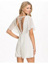 Jumpsuit, Crochet T Bar Chiffon Playsuit, Club L - NELLY.COM