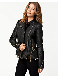 Glamorous Leather Zip Jacket