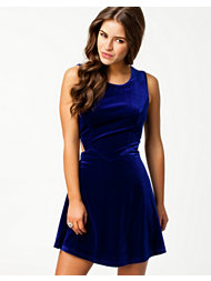 Glamorous Velvet Cut Out Dress