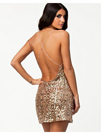 Juhlamekot, Golden Sequin Dress, Glamorous - NELLY.COM