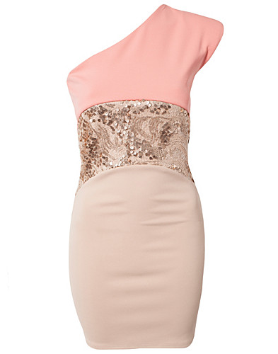 PARTY DRESSES - DARK PINK / SEQUIN WAIST ONE DRESS - NELLY.COM