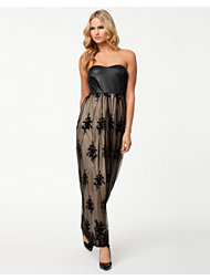 Dark Pink Paris Lace Maxi Dress