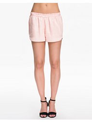 Dark Pink Satin Runner Shorts